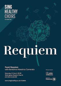 sing healthy choirs - FAURÉ REQUIEM - Poster