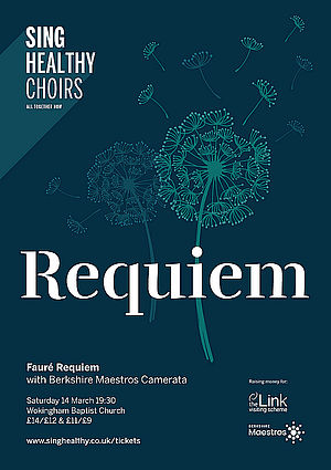 sing healthy choirs - FAURÉ REQUIEM - Poster